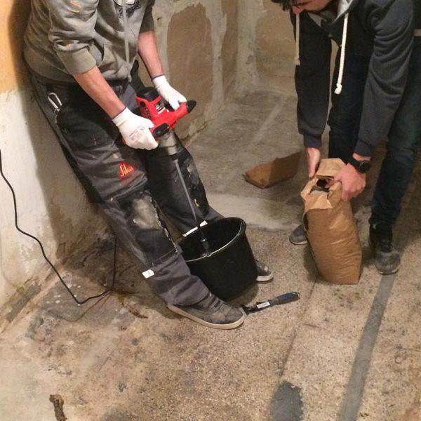 Realizace pohledové cementové stěrky