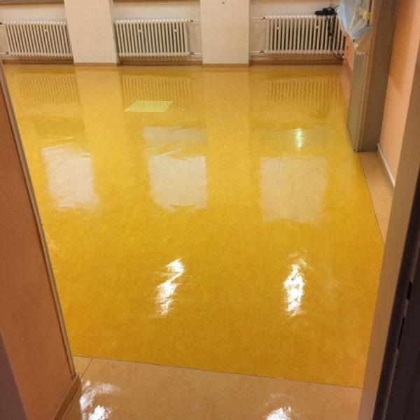 ZŠ Jihlava - čištění a voskování podlah